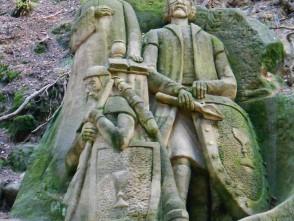 Sousoší husitských bojovníků od Stanislava Rolínka – Velký Chlum
