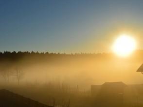 Východ slunce vobci Suchý