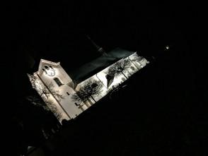 Drnovický kostel vnoci