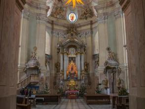 Interiér kostelu ve Křtinách