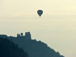 Balonový let nad boskovickým hradem