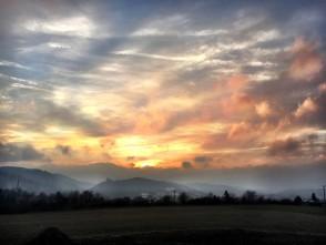 Západ slunce nad boskovickým hradem