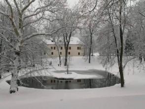 Zimní zámecký park vBlansku