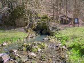 Vyvěrání Křtinského potoka u Josefova