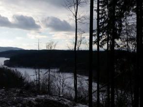 Zamrzlá Boskovická přehrada