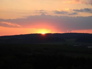 Západ slunce zrozhledny Žernovník