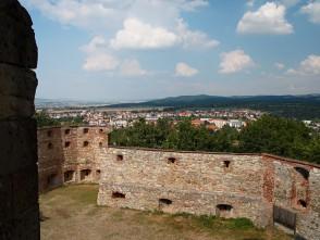 Pohled na Boskovice zboskovického hradu