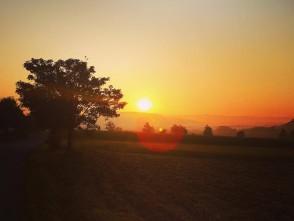 Východ slunce – Jabloňany