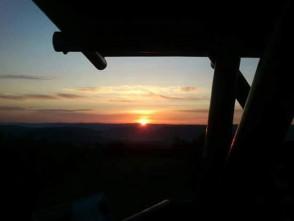 Východ slunce na Malém Chlumu