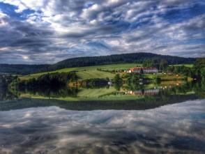 Křetínská přehrada a pohled na Svitavici