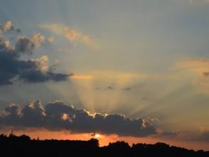 Západ slunce v Jedovnicích