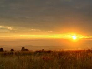 Fascinující východ slunce u Boskovic