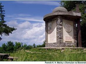 Pomník K.H.Máchy, mezi Olomučany a Novým hradem
