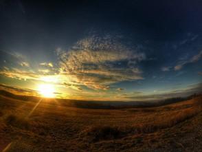 Západ slunce u Petrovic