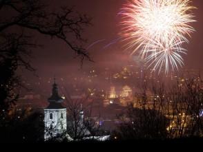 Blanenský novoroční ohňostroj