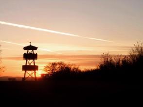 Západ slunce za Chlumem