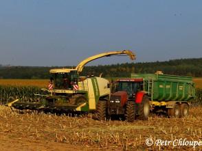 Plné nasazení při sklizni kukuřice na Boskovicku