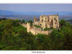 Pohled na boskovický hrad