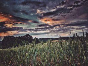 Západ slunce vDrválovicích